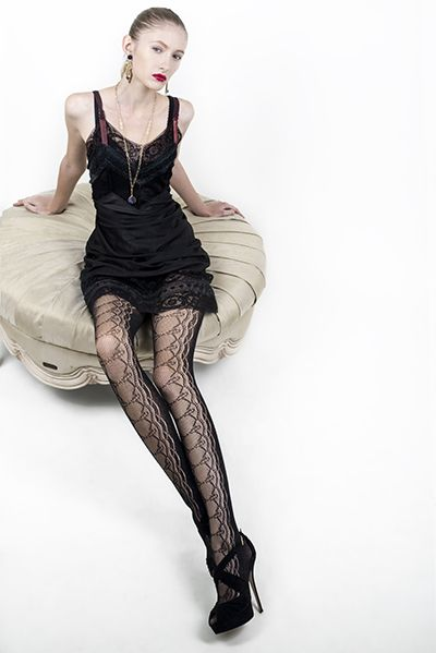 AOneBeauty.com - Killer Legs Fishnet Pantyhose - Decorative Bow Lace Up