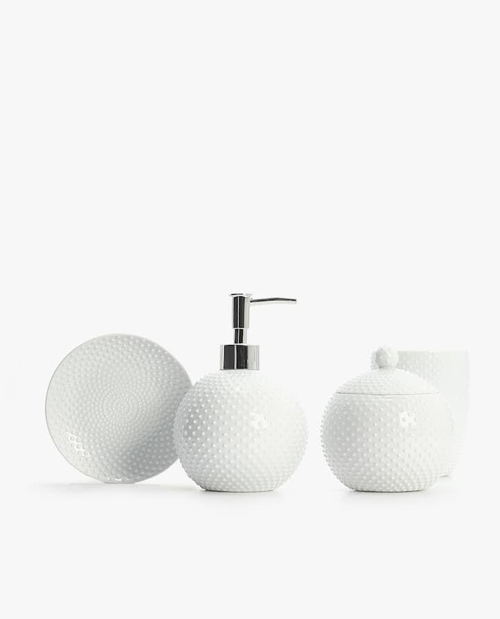 Dotted Ceramic Bathroom Set Set De Bano Zara Home Y Accesorios Bano