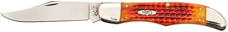 Case Harvest Orange Bone Folding Hunter Pocket Knife. Tru-Sharp surgical stainless steel blade; Clip blade. Pocket worn harvest orange bone handle; Folding blade. Great pocket knife for the outdoors especially for hunting. Hand-crafted by skilled artisans. Made in USA; Limited Lifetime Warranty.