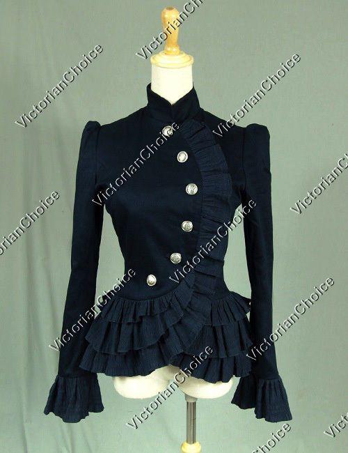 Gothic Victorian Women Jacket Blazer Riding Steampunk Punk Costume NAVY C032 #VictorianChoice #VictorianJacket