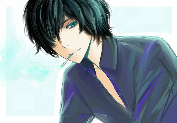 black hair and blue eyes anime guy bag pinterest