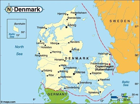 Denmark Danish officially the Kingdom of Denmark is a sovereign – Map of Northern Europe Countries