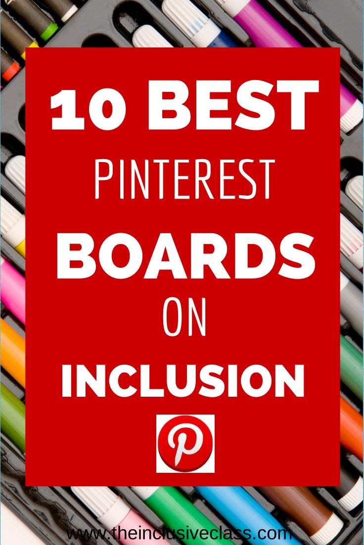 The Inclusive Class: 10 of the Best Pinterest Boards About Inclusion