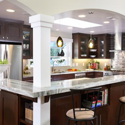 Galley Kitchen With Island Designs 172 best galley & eat in kitchens images on pinterest | dream