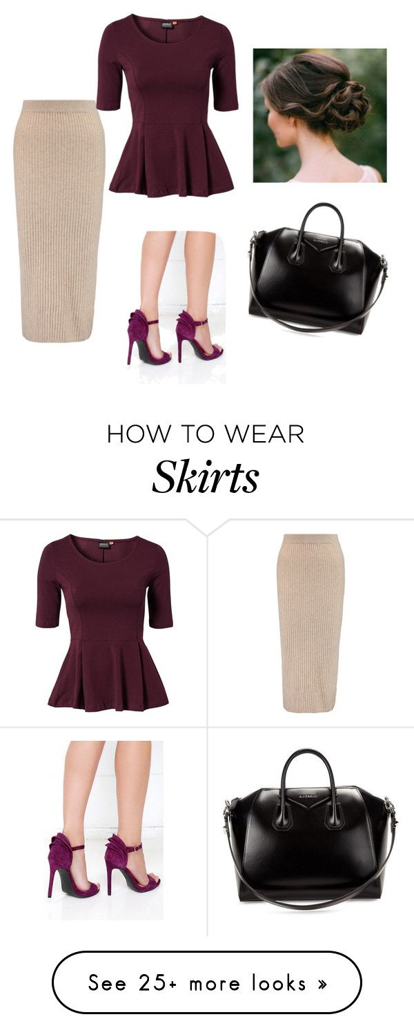 """""""Skirt"""" by rae1997 on Polyvore featuring Iris & Ink, ONLY, Jessica Simpson and Givenchy"""