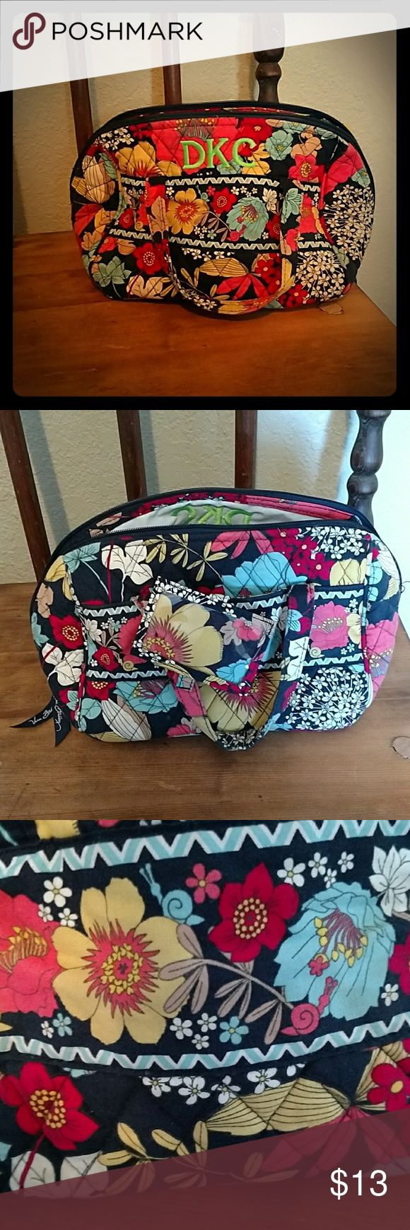 Vera Bradley travel bag No flaws just has initials? on it DKC Vera Bradley Bags Travel Bags