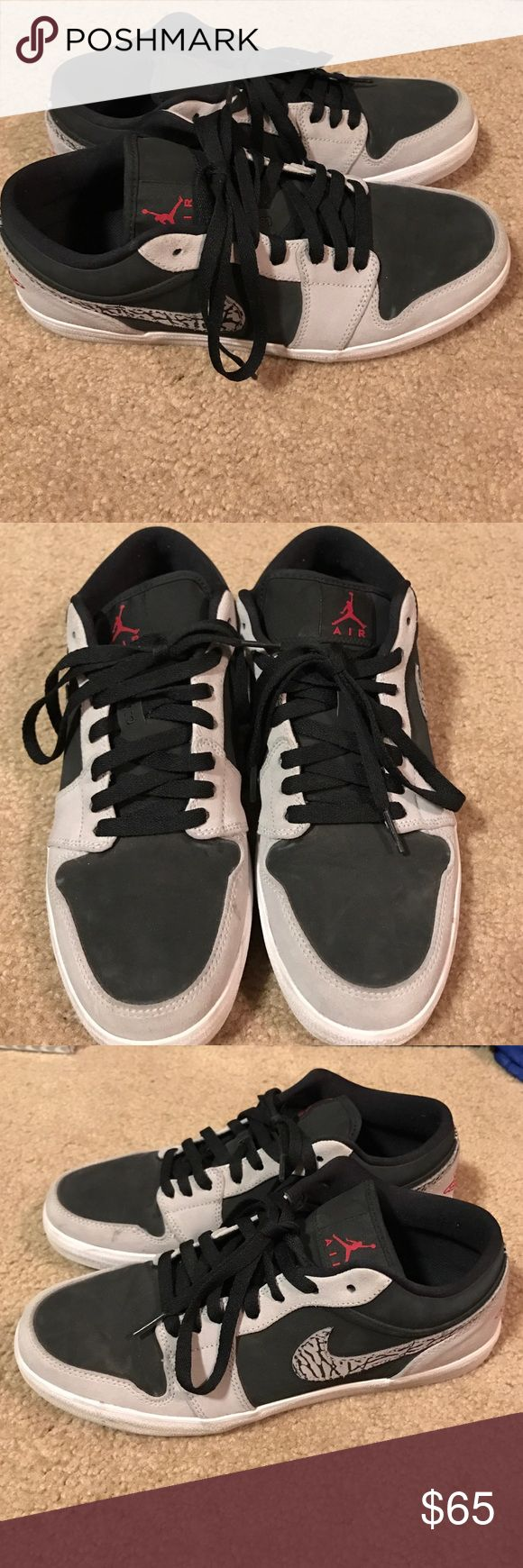 Team Jordan Low Top 1's Good shoe, quality 8/10 worn a couple times, suede, and comfortable Jordan Shoes Sneakers