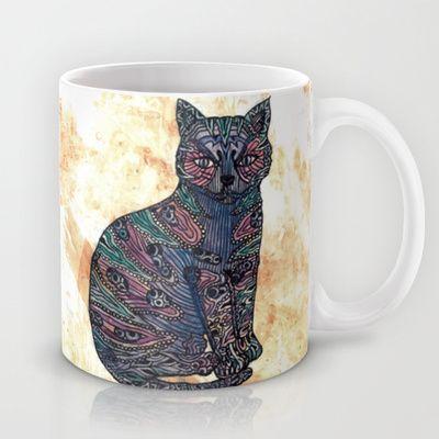 My blue cat.by Juliagrifol Design, design #illustration #animal #pet #cat #mug #society6