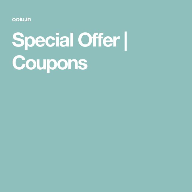 Special Offer | Coupons