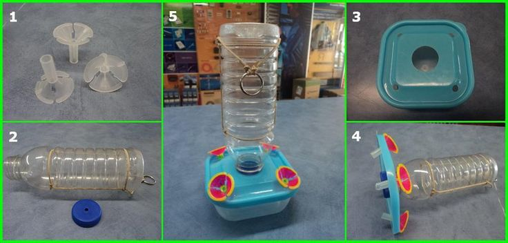 Reciclando - Bebedero para colibries - Des-Bordes.org
