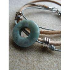 Lightbrown leather bracelet