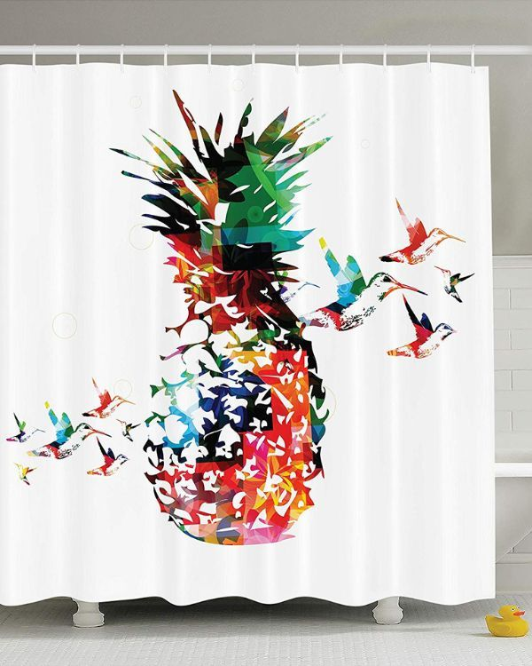 Bright Pineapple Shower Curtain Love This For A Girls Bathroom