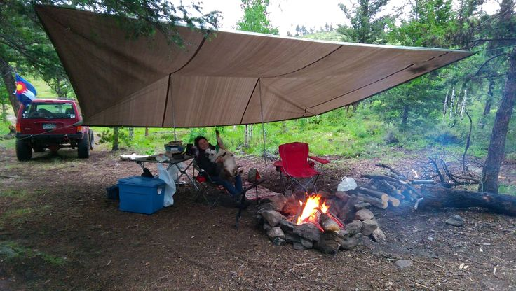 Afternoon Showers in the Rockies can't beat my tarp game. Stayed dry through the rain all holiday weekend. http://ift.tt/1SYUgnR