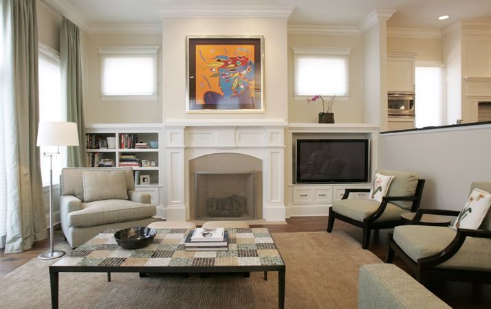 Fireplace With Tv On Side On Either Side Of The