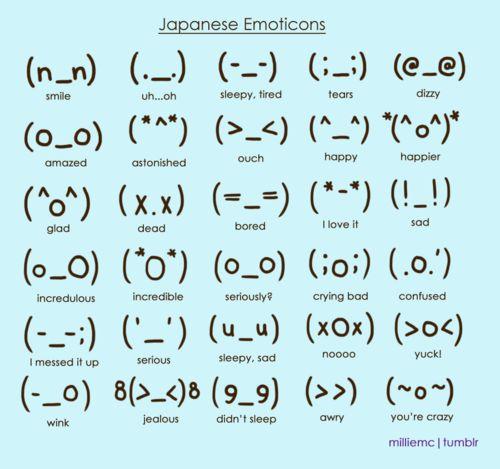 Japanese Emoticons - Love my peeps creativity