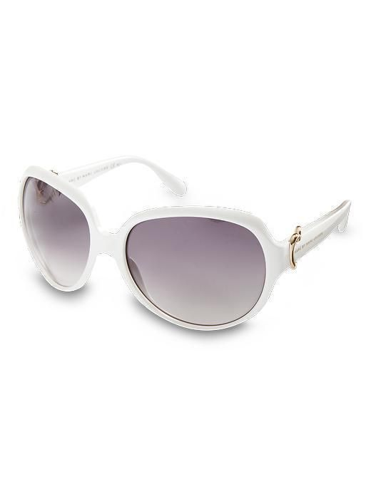 Marc by Marc Jacobs Oversized Round Oversized round sunglasses Grey or brown gradient lens 100% UV protection Injected propionate Imported More Detail