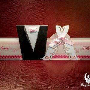 Vőlegény-Menyasszony lézervágott esküvői meghívó  #lézervágott #esküvői #meghívó #esküvőimeghívó #menyasszony #vőlegény #lasercutting #wedding #weddinginvitations #bride #groom