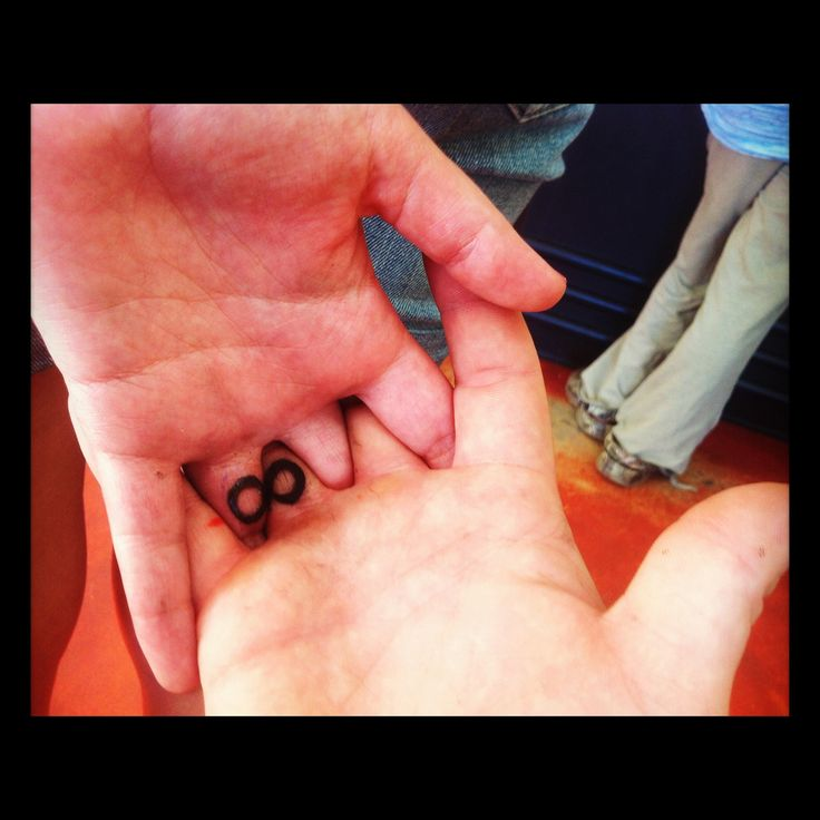 Infinity tattoo. Holding hands!