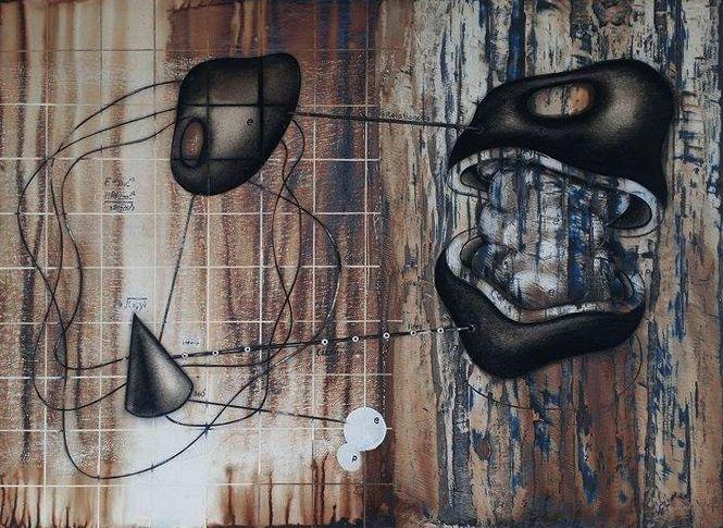 "Anurak Khotchomphu ""Artistic form 2.2015"" 2015 50 X 70"