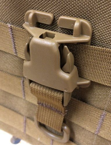 Every Which Way Buckle System Military Tactical T-ring Adaptor for Molle Pals Tring