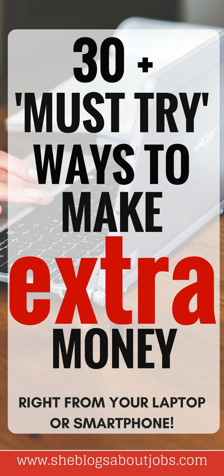 Click through to post to read this epic list of must try ways to make extra money!