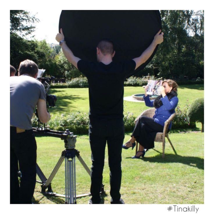 Ready.Set.Action  @tinakilly_country_house_hotel @oxendales_ireland @celiaholmanlee #Tinakilly #DowntonAbbey #TV3 #tinakillyhouse #GardenOfIreland