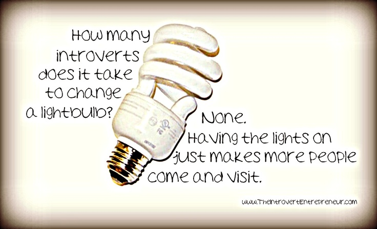 Quot How Many Introverts Does It Take To Change A Light Bulb