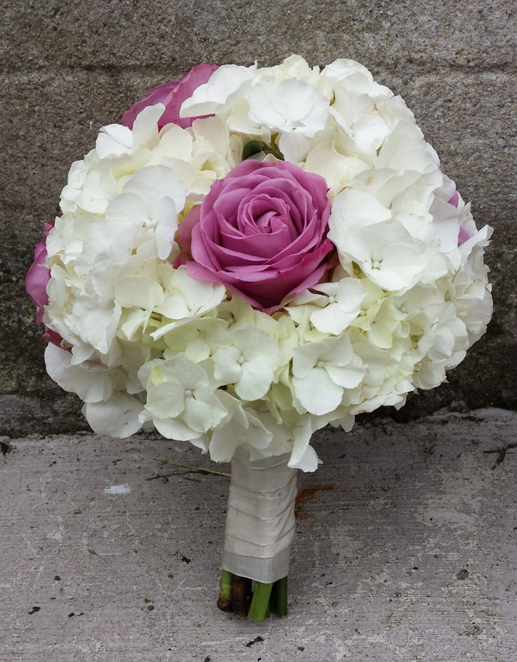Hydrangea and Coolwater rose bouquet
