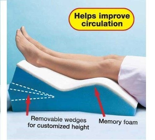 Edema Relief Memory Foam Adjustable Leg Lift Wedge
