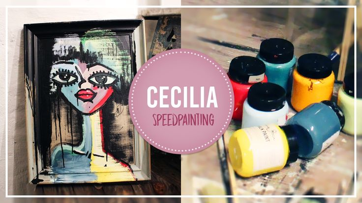 Speed painting - Chalk painting - Cecilia
