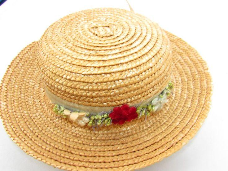 Madame Alexander Cissy Doll Hat Straw With Flowers & Ribbon 1955 Nice Display #MadameAlexander #ClothingAccessories