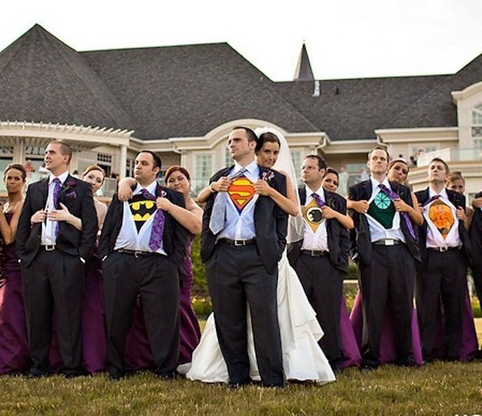 padrinos de boda superhèroes