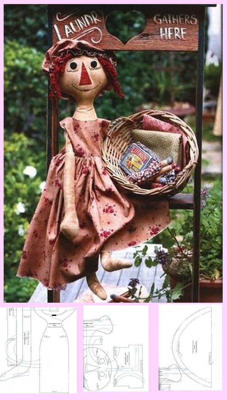 594 best raggedy doll u0026 dolls images on pinterest raggedy ann