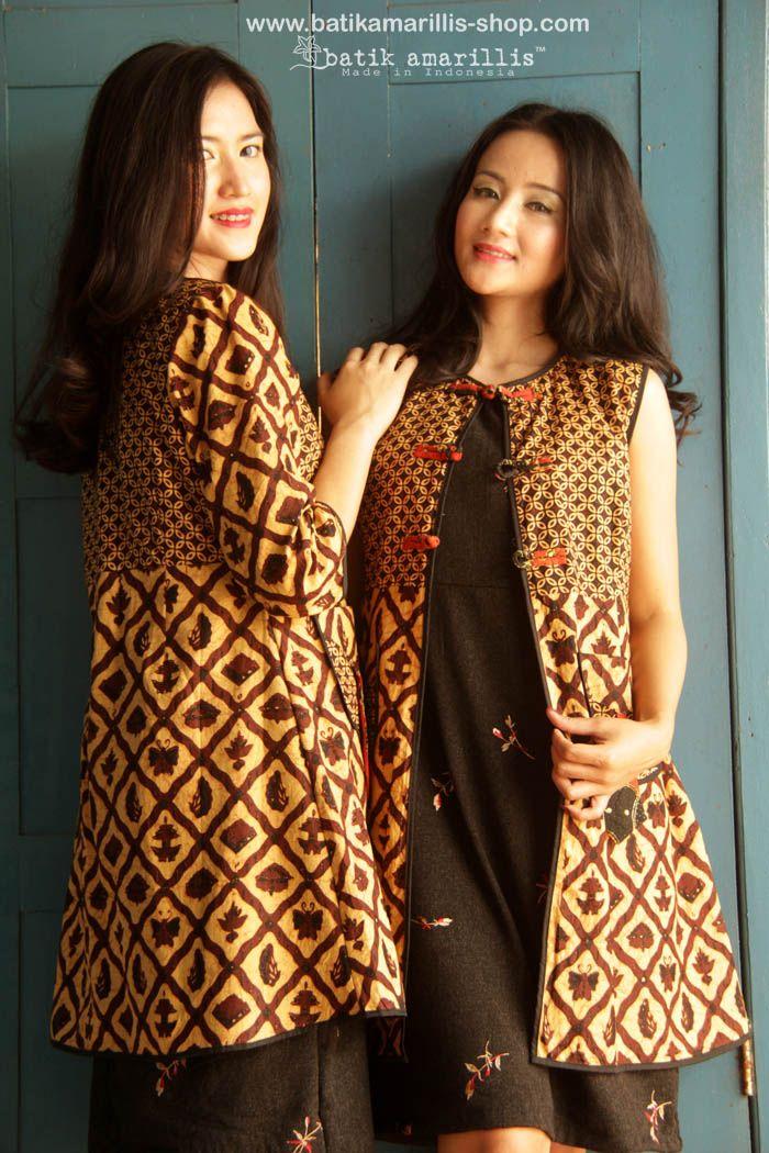 batik amarillis's ildiko long jacket made with batik banyumas-Indonesia…