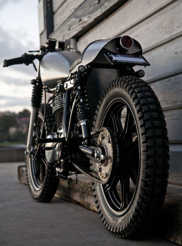 NOW AND THEN | motomondiale: GASOLINE CUSTOM YAMAHA SR400 -...