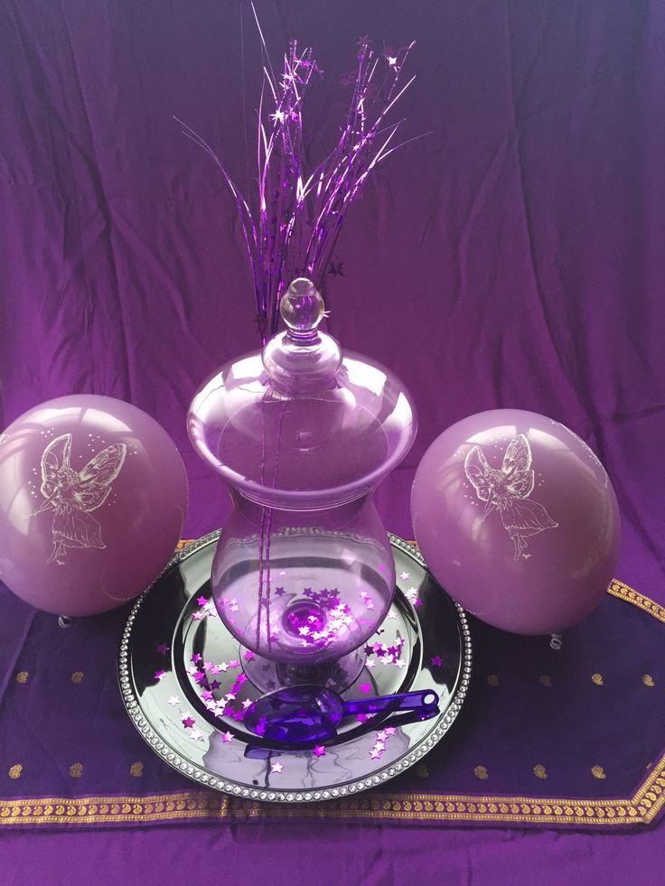 Purple candy jar  Fairy table