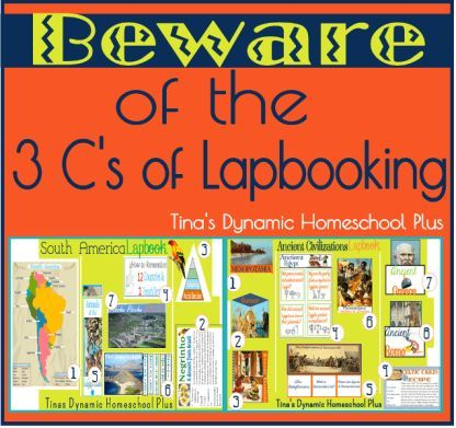 Beware of the 3 C's of Lapbooking: crafting, coloring, and cutting, great tips for making your lapbook more usable