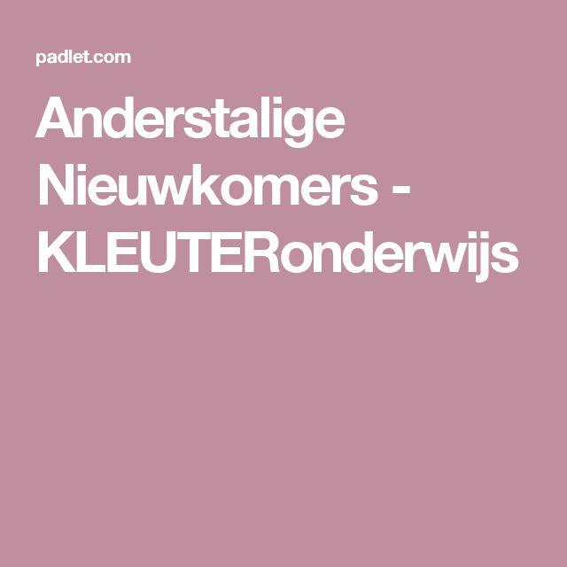 Anderstalige Nieuwkomers - KLEUTERonderwijs