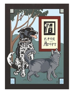 """""""A is for Adopt"""" Acrylic painting by Adalee (Velasquez) Hude"""