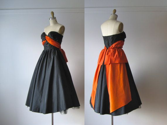 vintage 1950s dress / 50s party dress / Bye Bye Baby