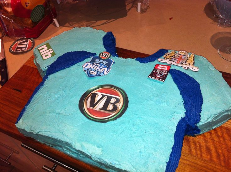 State of Origin - Blues Jersey Cake