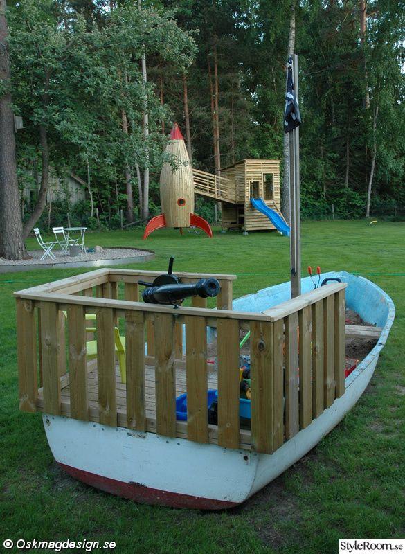 piratskepp,lekstuga,rutschkana,sandlåda,lekplats