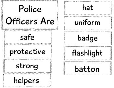 Community Helper Edition: Police Officer Anchor Chart from