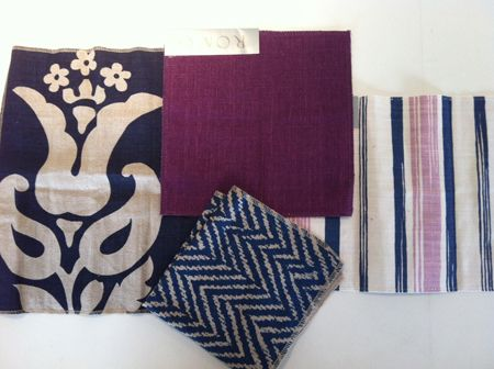 navy + plum : living room inspirations