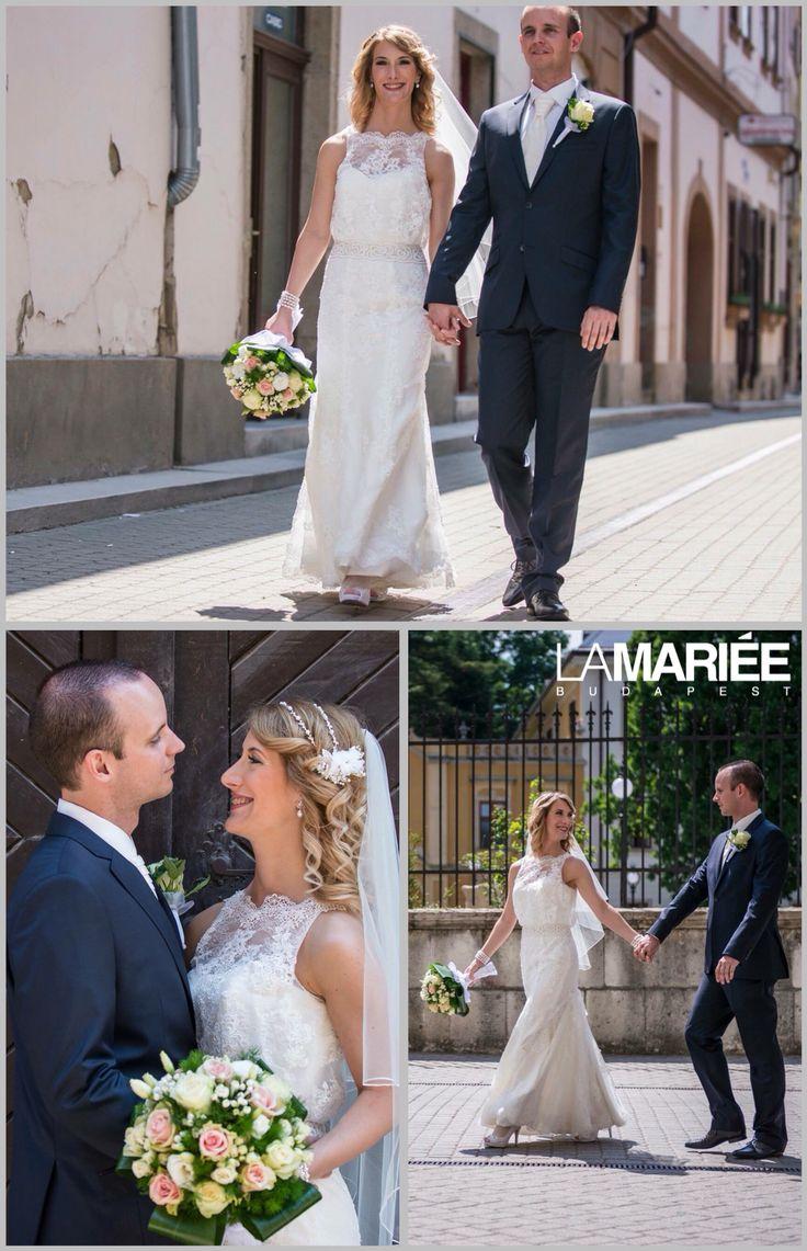 Odette esküvői ruha Aire Barcelona kollekció - Rosa Clara - Katalin menyasszonyunk   http://mobile.lamariee.hu/menyasszonyi-ruha-kollekciok/eskuvoi-ruhak/aire-od