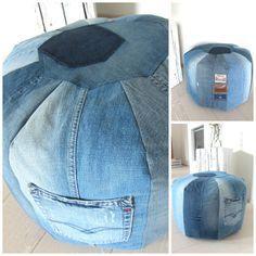 Sitzsack aus Jeans                                                                                                                                                                                 Mehr