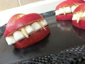 ハロウィン簡単デザート☆ドラキュラ入れ歯 by まあさっちん [クックパッド] 簡単おいしいみんなのレシピが217万品
