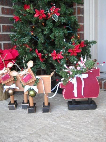 Chunky Reindeer & Sleigh-UNFINISHED KIT crafts christmas