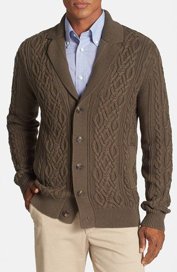 Free shipping and returns on Façonnable Cable Knit Cotton & Cashmere Cardigan at Nordstrom.com. A ribbed notch lapel elevates a soft, warm button cardigan styled with classic cabling and softened with a touch of cashmere.