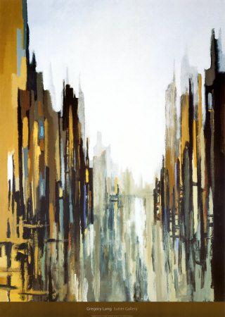 Yellow & Grey - Urban Abstract No. 141 by Gregory Lang